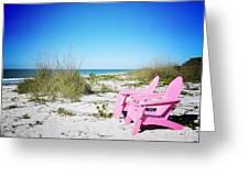 Pink Paradise Vanilla Pop Greeting Card