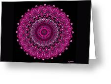 Pink Passion No. 7 Mandala Greeting Card