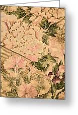 Pink Peonies - Kimono Series Greeting Card