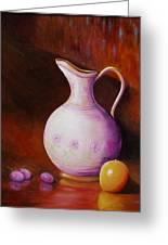 Pink Pitcher Greeting Card