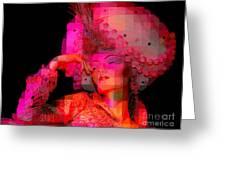 Pink Pixelated Princess Greeting Card