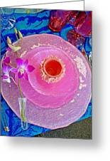 Pink Place Setting Greeting Card