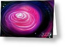 Pink Planet With Diffusing Atmosphere Greeting Card