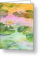 Pink Pond Greeting Card