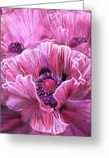 Pink Poppy Splash Greeting Card