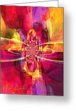 Pink Purple And Yellow Greeting Card