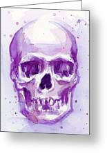 Pink Purple Skull Greeting Card