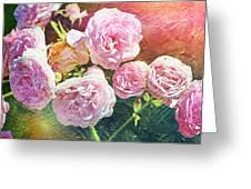 Pink Rose Artwork Greeting Card