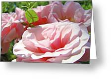 Pink Rose Flower Garden Art Prints Pastel Pink Roses Baslee Troutman Greeting Card