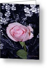 Pink Rose Of Imperfection Greeting Card