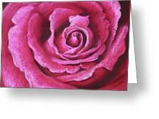 Pink Rose Pastel Painting Greeting Card