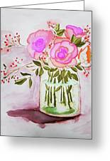 Pink Roses By Toni Greeting Card