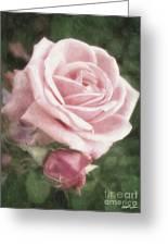 Pink Roses In Anzures 2 Nostalgic Greeting Card