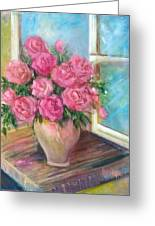 Pink Roses Greeting Card
