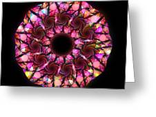 Pink Round Greeting Card