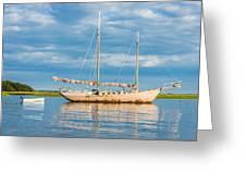 Pink Sailboat 3 Greeting Card
