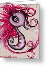 Pink Seahorse Greeting Card