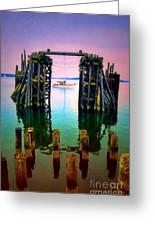 Pink Skies In Port Townsend Greeting Card