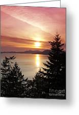 Pink Sky At Night Greeting Card