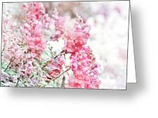 Pink Snapdragons Watercolor Greeting Card