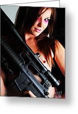 Pink Sniper Greeting Card