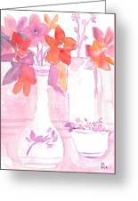 Pink Still Life Greeting Card