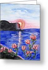 Pink Sunset Greeting Card
