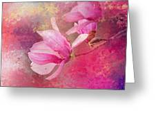 Pink Tulip Magnolia In Spring Greeting Card