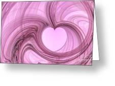 Pink Valentine Greeting Card