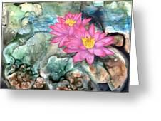 Pink Waterlily Greeting Card