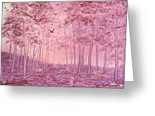 Pink Woods Greeting Card