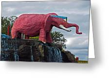 Pinky The Elephant At Cape Canaveral Greeting Card