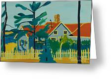 Pinkys House On Monhegan Greeting Card