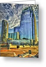 Pinnacle Building Sunset Nashville Shadows Nashville Tennessee Art Greeting Card
