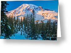 Pinnacle Saddle Winter Greeting Card