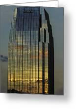 Pinnacle Sunset Reflection Greeting Card