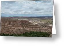 Pinnacles Overlook Panorama  Greeting Card