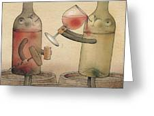 Pinot Noir And Chardonnay Greeting Card