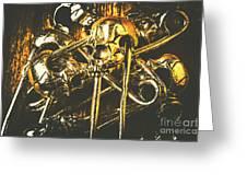 Pins Of Horror Fashion Greeting Card
