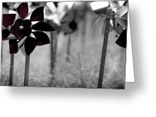 Pinwheels Greeting Card by Mamie Thornbrue