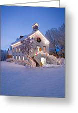 Pioneer Church At Christmas Time Greeting Card