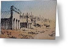 Pioneer Ghost Town Montana Greeting Card