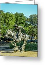Pioneer Plaza Cattle Drive Monument Dallas Greeting Card