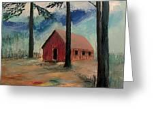 Pioneer School House Greeting Card