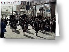 Pipe Band Highland Games Scotland Greeting Card