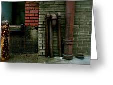 Pipe  Bricks Greeting Card
