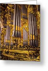 Pipe Organ Detail Greeting Card