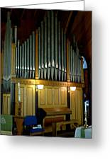 Pipe Organ Of Old Greeting Card