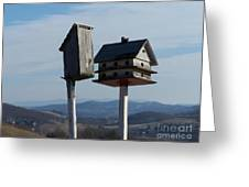 Pipeline Birdhouse Greeting Card