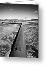 pipeline carrying hot water to reykjavik from Hellisheidi geothermal combined heat and power station Greeting Card